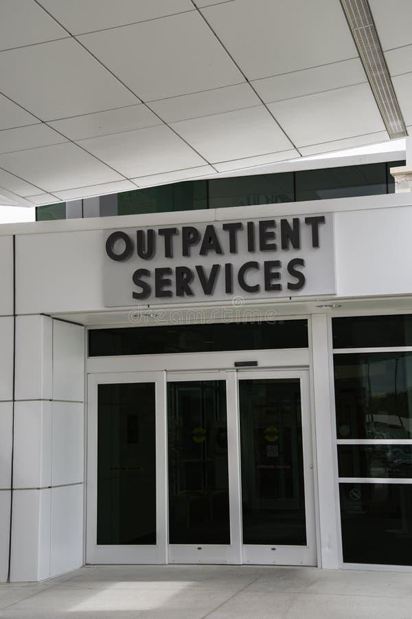 De diensten van de het ziekenhuispoliklinische patiënt royalty-vrije stock foto