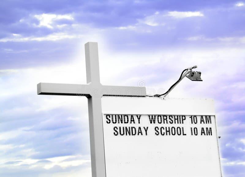 De Diensten van de kerk royalty-vrije illustratie