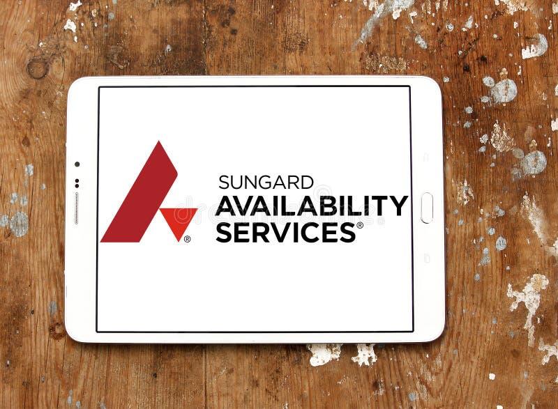 De Dienstenembleem van de Sungardbeschikbaarheid stock foto's