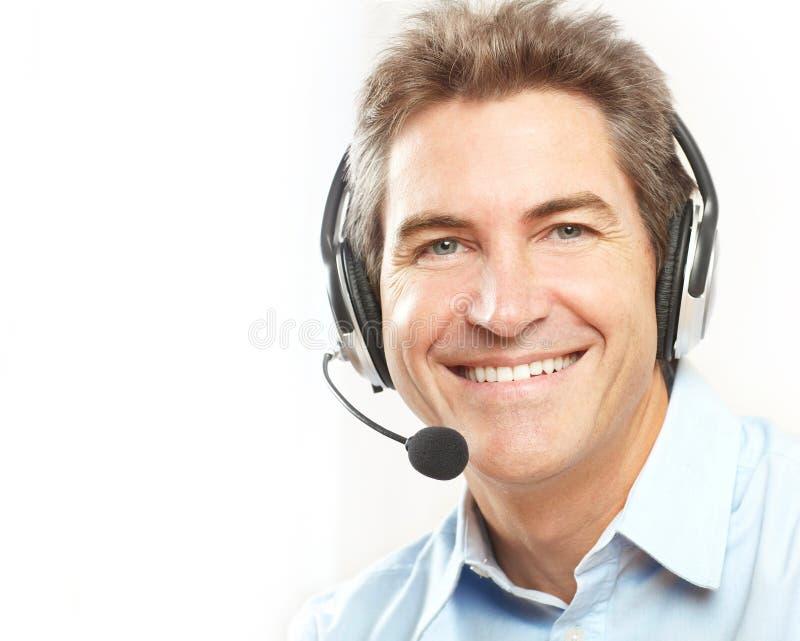 De dienstexploitant van de klant. stock fotografie