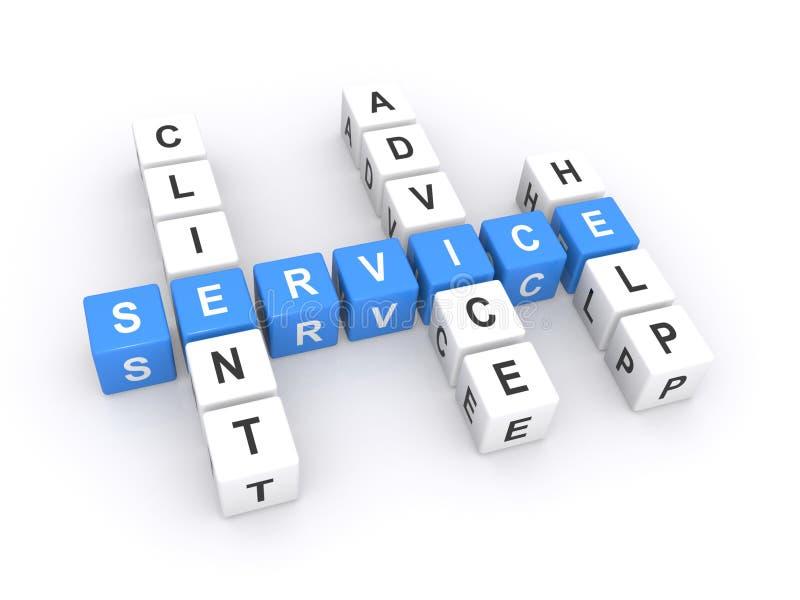 De dienstillustratie  stock illustratie