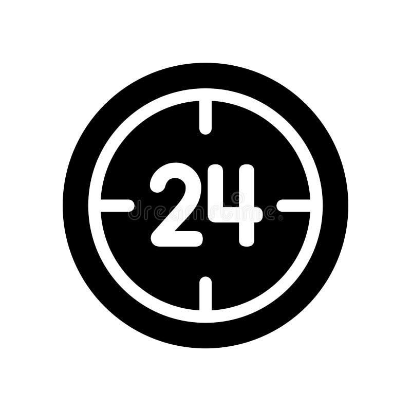 24 de dienstpictogram  vector illustratie