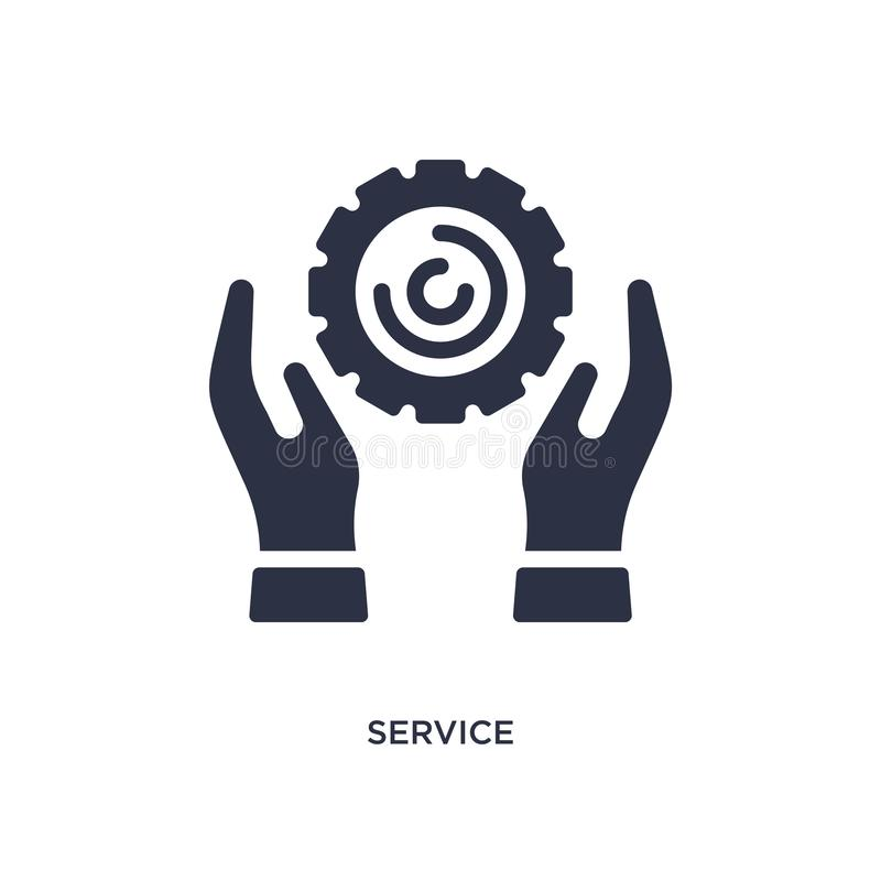 de dienstpictogram op witte achtergrond Eenvoudige elementenillustratie van Marketing concept stock illustratie