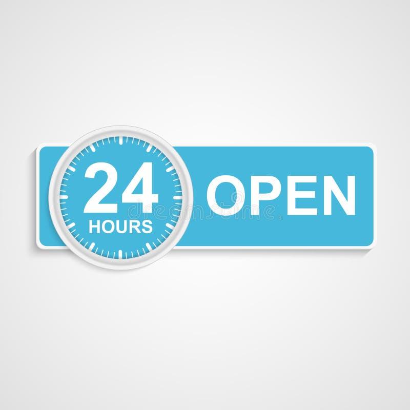 de dienstpictogram van de 24 urenklant. vector illustratie