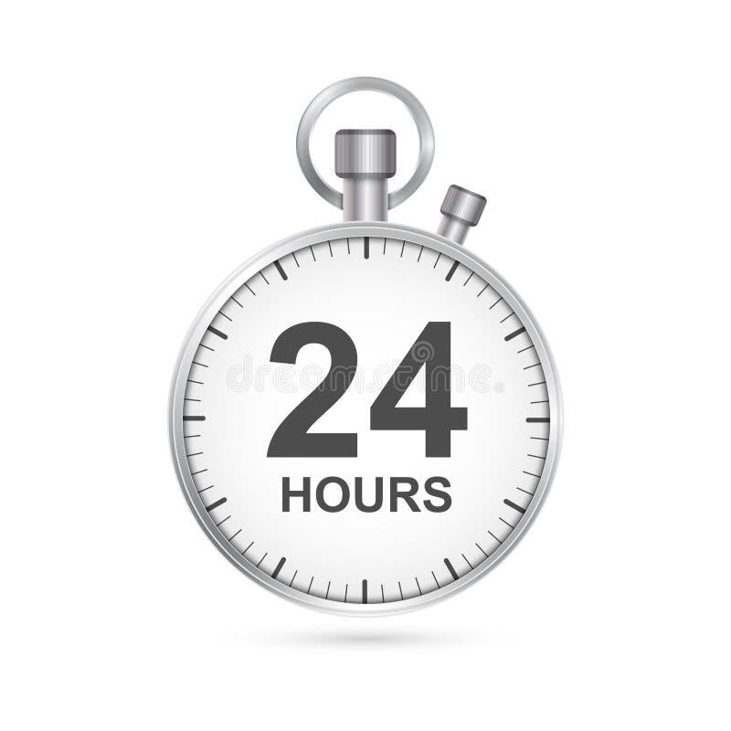 de dienstpictogram van de 24 urenklant vector illustratie