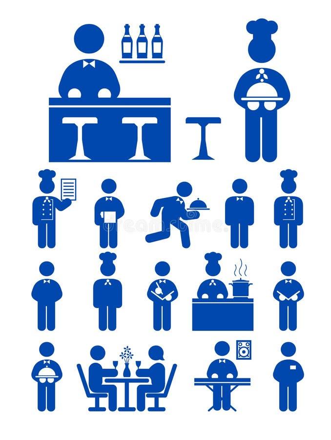 De dienstpictogram van het voedsel stock illustratie