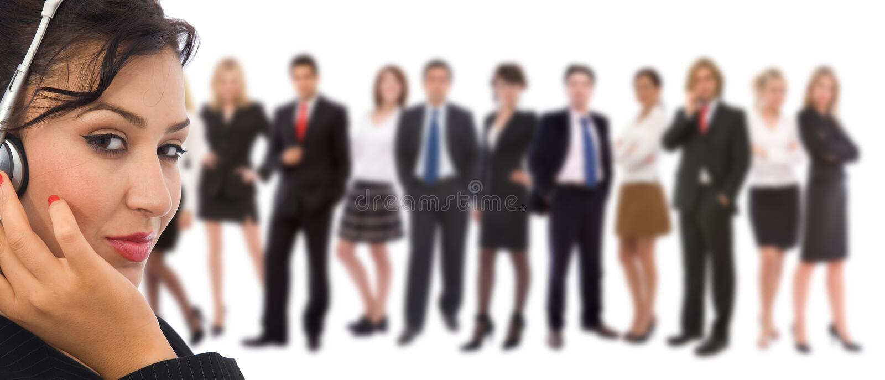 De dienstteam van de klant royalty-vrije stock foto
