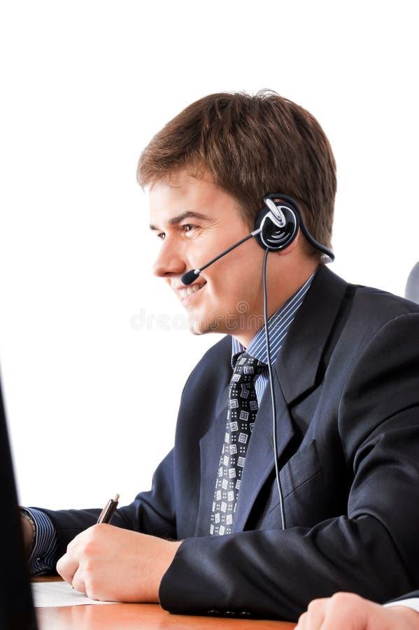 De dienstvertegenwoordiger van de klant royalty-vrije stock afbeeldingen