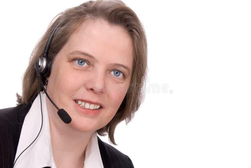 De dienstVertegenwoordiger van de klant royalty-vrije stock foto