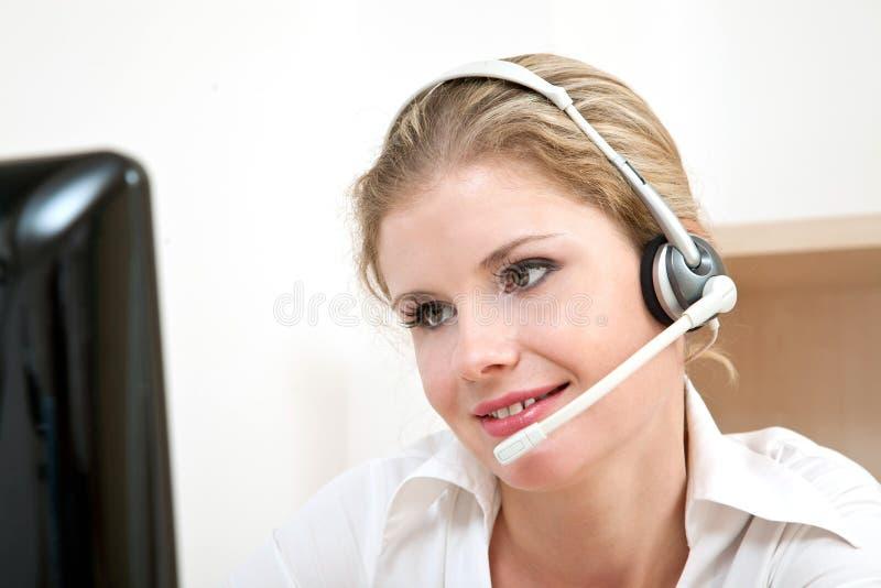 De dienstvertegenwoordiger van de klant stock foto