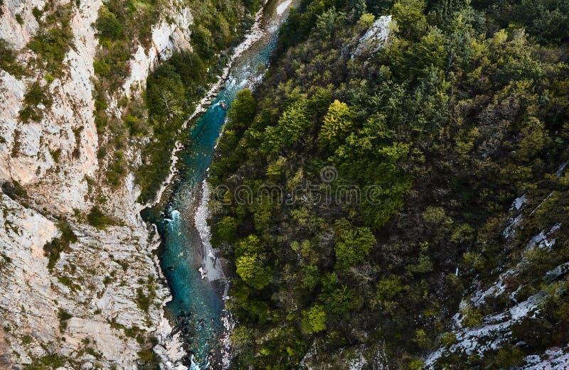 De diepste canion in Europa Tara River Canyon montenegro royalty-vrije stock foto