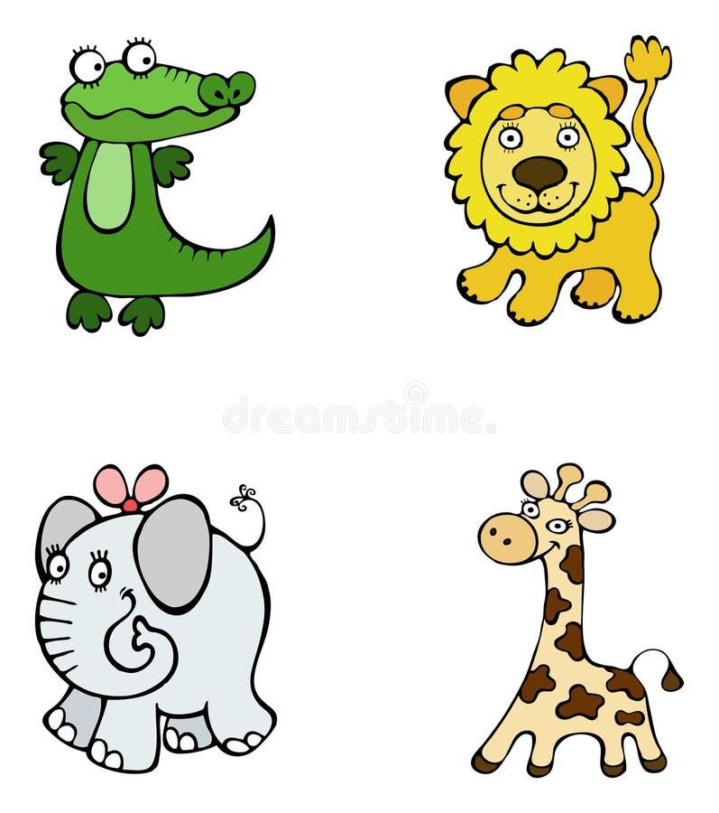 De dieren van de safari royalty-vrije stock afbeelding