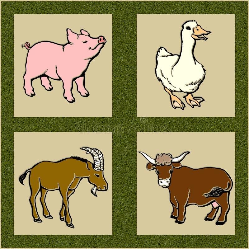 De dieren van het landbouwbedrijf stock illustratie