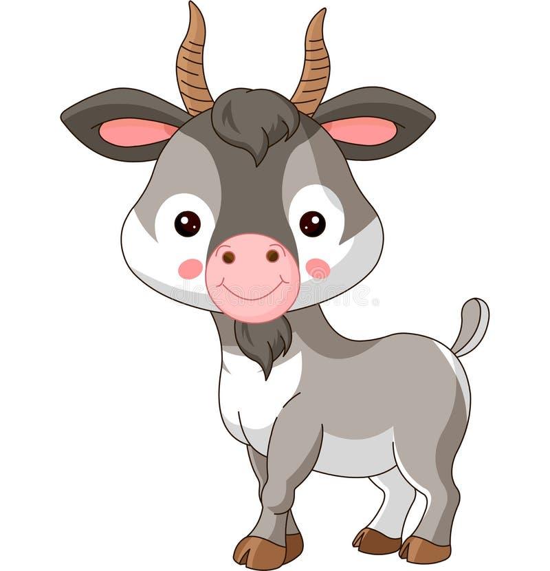 De dieren van het landbouwbedrijf Geit stock illustratie