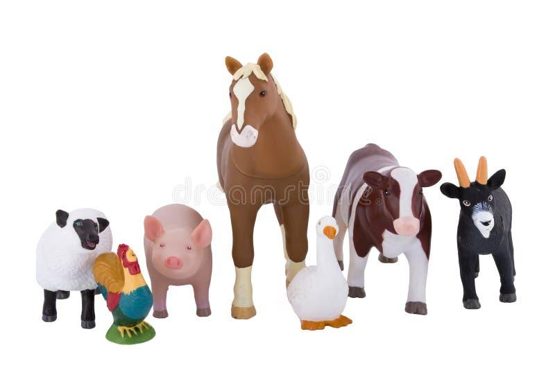 De Dieren van het Landbouwbedrijf van het stuk speelgoed stock foto