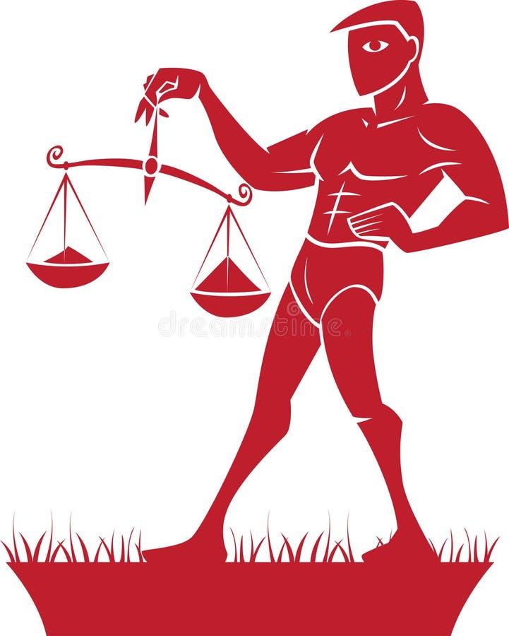 De Dierenriem van de Weegschaal/het Symbool van de Horoscoop royalty-vrije illustratie
