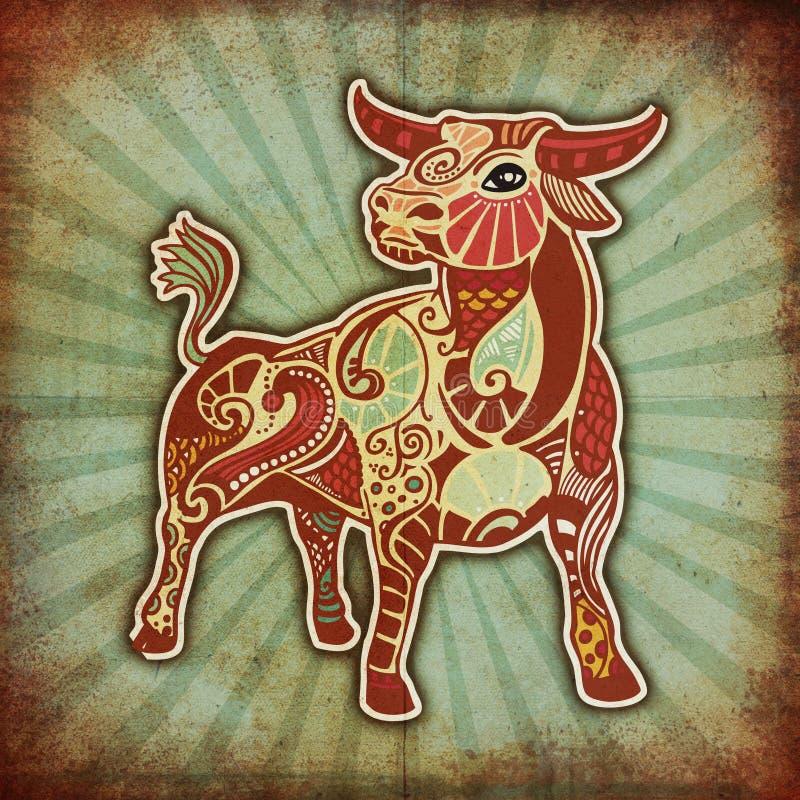 De Dierenriem van Grunge - Stier royalty-vrije illustratie