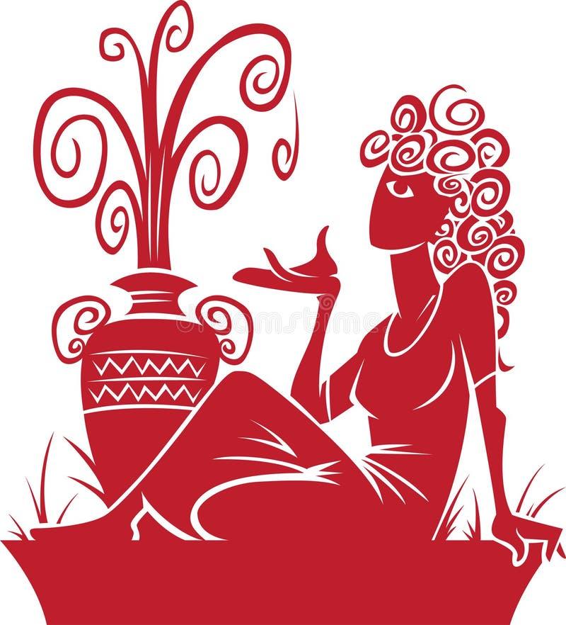 De Dierenriem van Waterman/het Symbool van de Horoscoop vector illustratie