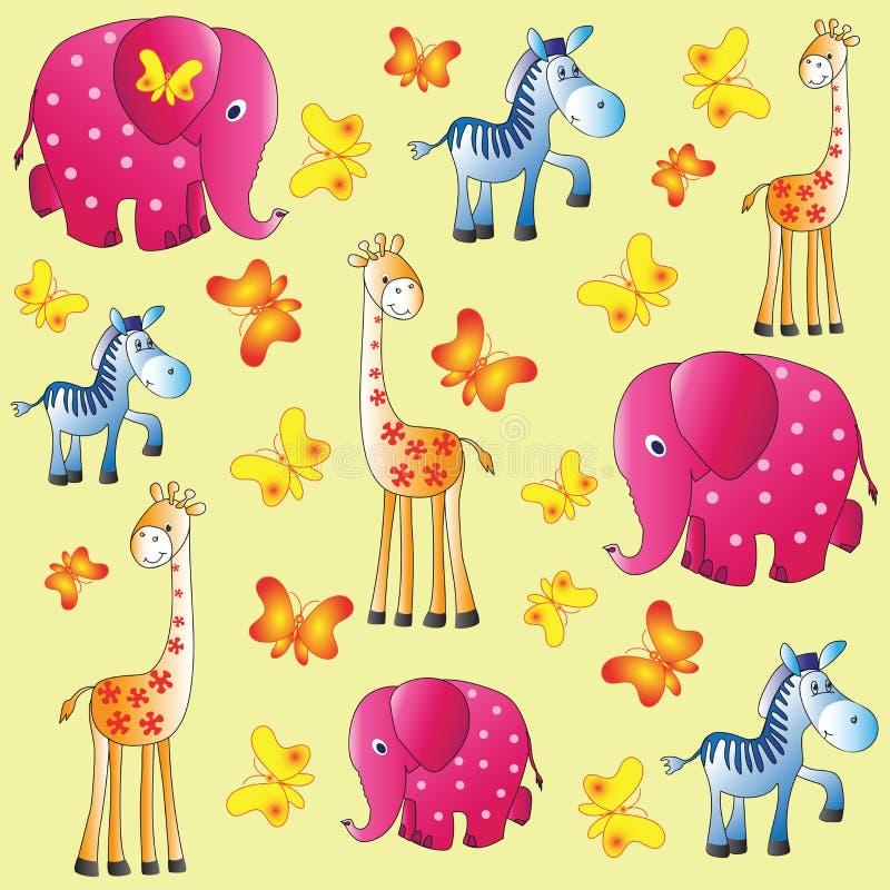De dierentuin van de pret Het beeld van kinderen `s stock illustratie