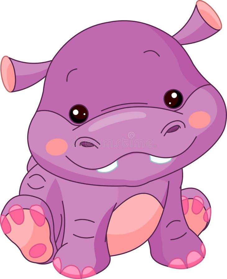 De dierentuin van de pret. Hippo stock illustratie