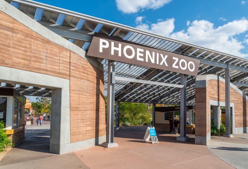 De Dierentuiningang van Phoenix stock afbeeldingen