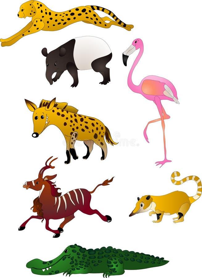 De dierenvector van het beeldverhaal stock illustratie