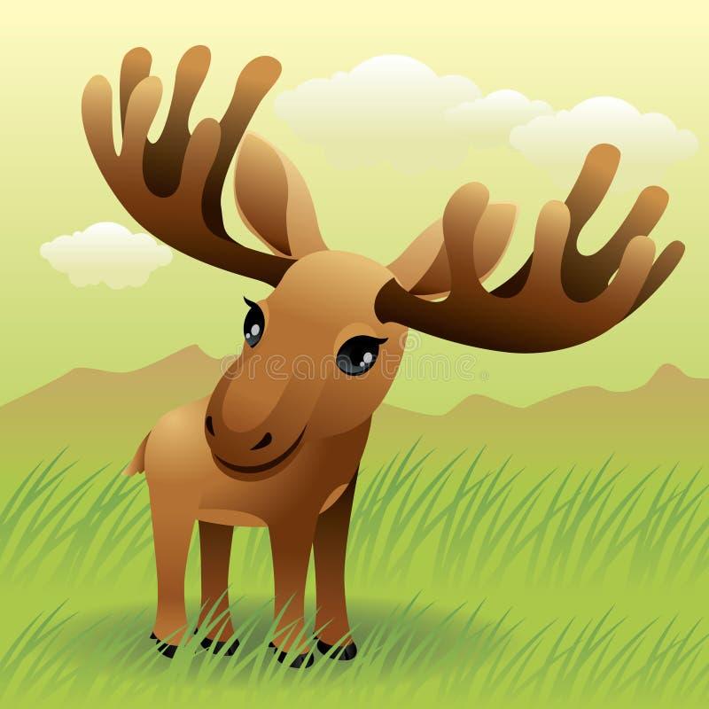 De Dierlijke inzameling van de baby: Amerikaanse elanden stock illustratie