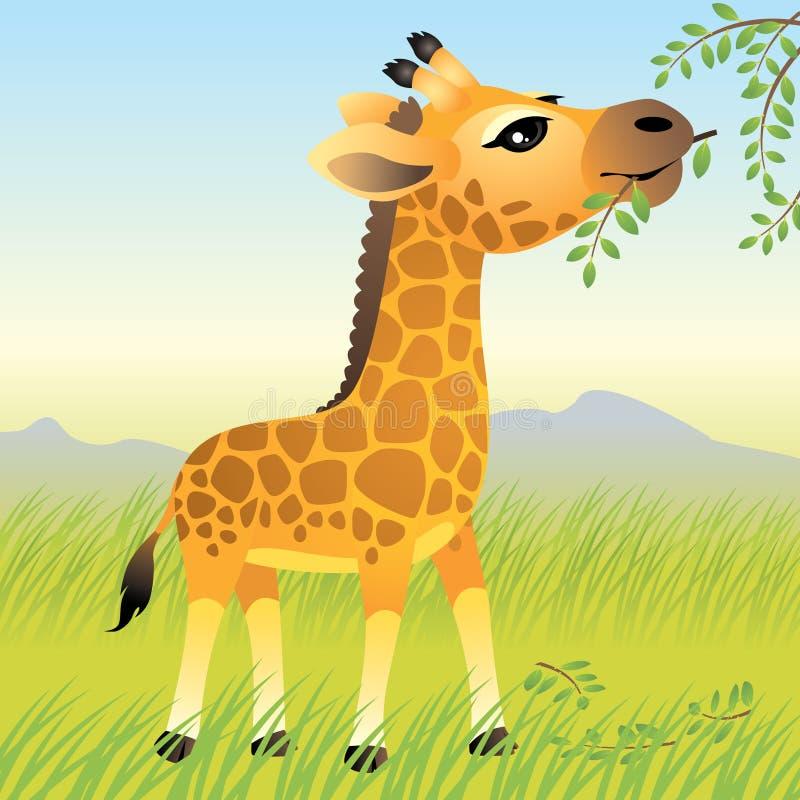 De Dierlijke inzameling van de baby: Giraf vector illustratie