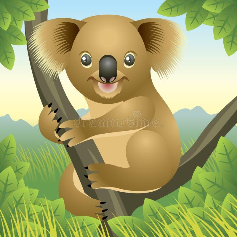 De Dierlijke inzameling van de baby: Koala stock illustratie