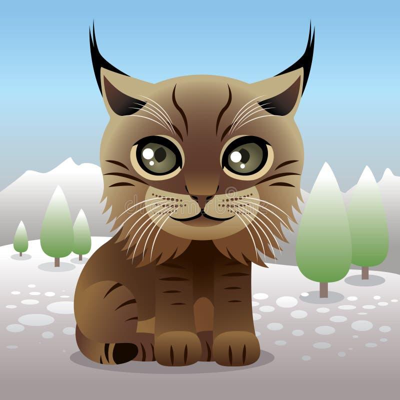 De Dierlijke inzameling van de baby: Lynx royalty-vrije illustratie