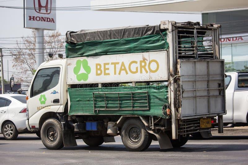 De dierlijke vrachtwagen van de kooicontainer van Betagro royalty-vrije stock foto