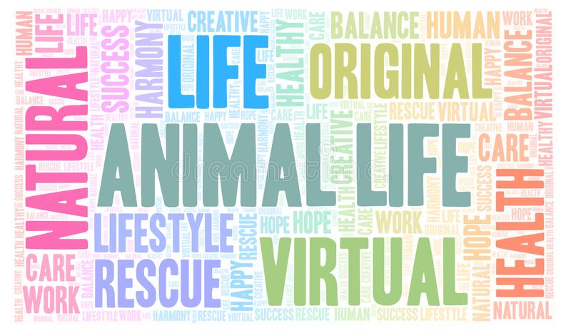 De dierlijke wolk van het het Levenswoord stock illustratie