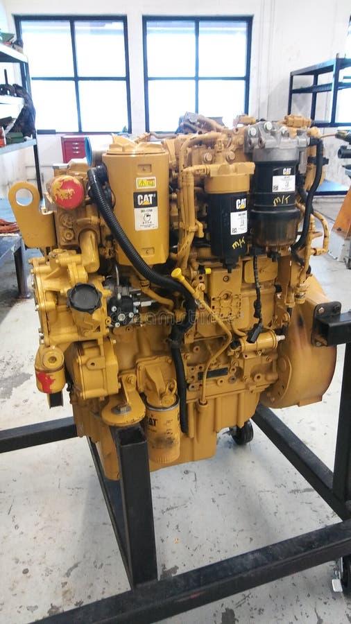 De dieselmotor van Caterpillar C4 royalty-vrije stock foto's