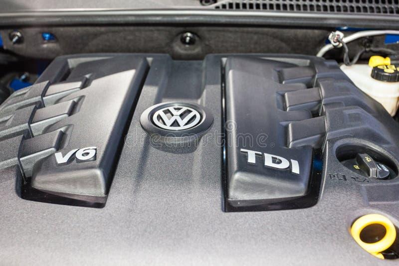 De Dieselmotor van Volkswagen V6 TDI stock afbeeldingen