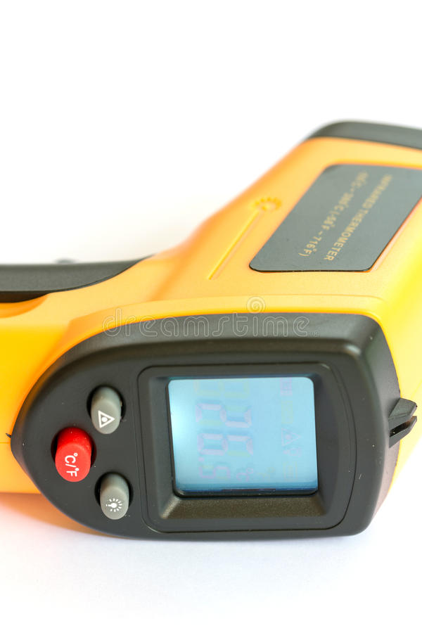 De Digital thermomètre d'infrarouge de contact non images libres de droits