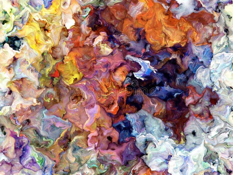 De digitale Achtergrond van de Textuur van de Verf stock illustratie