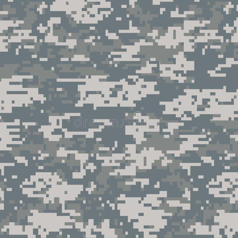 Digitaal camouflage naadloos patroon stock illustratie