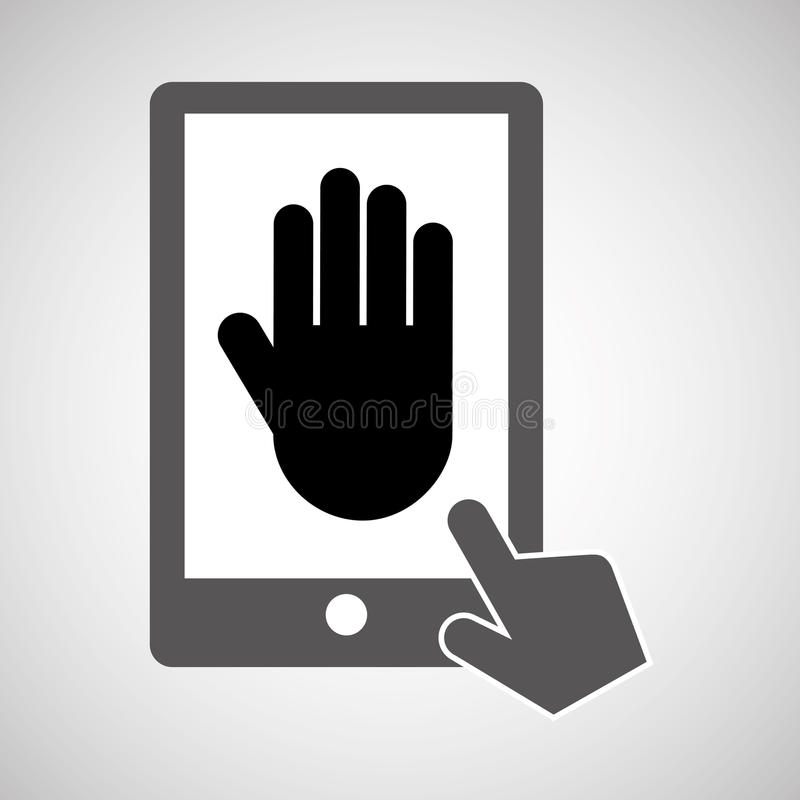 De digitale druk van gegevensbeschermingsmartphone stock illustratie