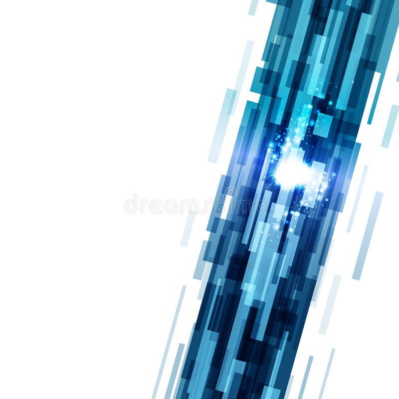 De digitale de fonkelingsbliksem van neonlichtlijnen speelt stof glanzende usin mee royalty-vrije illustratie