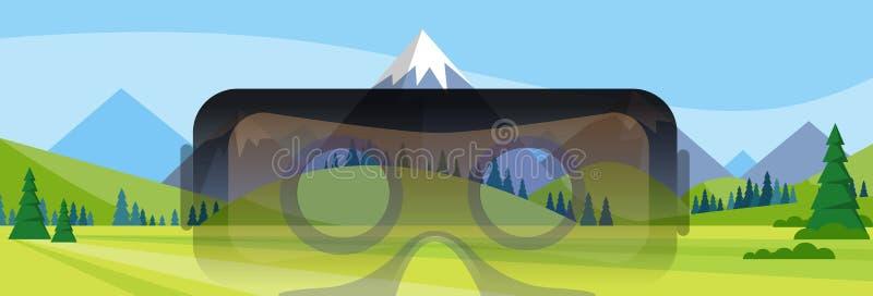 De digitale Glazen leiden Wearable Technologie Virtuele Werkelijkheid stock illustratie