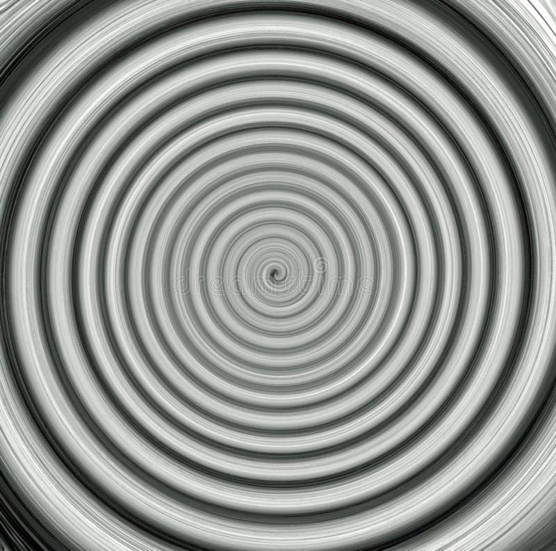De digitale het Schilderen Abstracte Zwart-witte Achtergrond van de Schemeringstreek stock illustratie