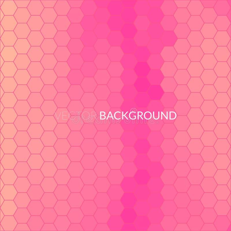De digitale hexagon achtergrond van het pixelmozaïek stock illustratie