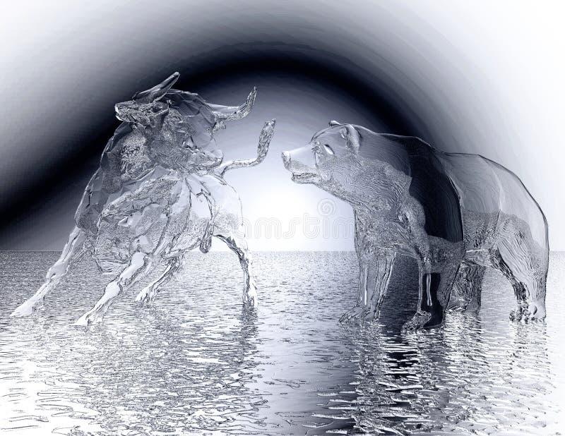 De digitale Illustratie van een Stier en draagt Hulp royalty-vrije illustratie