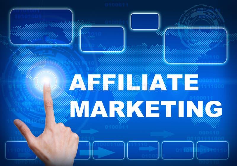 De digitale interface van het aanrakingsscherm van filiaal marketing concept royalty-vrije illustratie