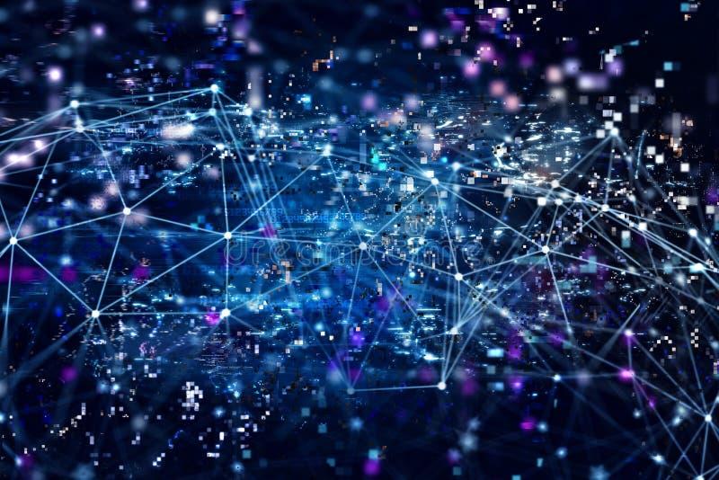 De digitale Internet-achtergrond van het netwerkconcept royalty-vrije illustratie