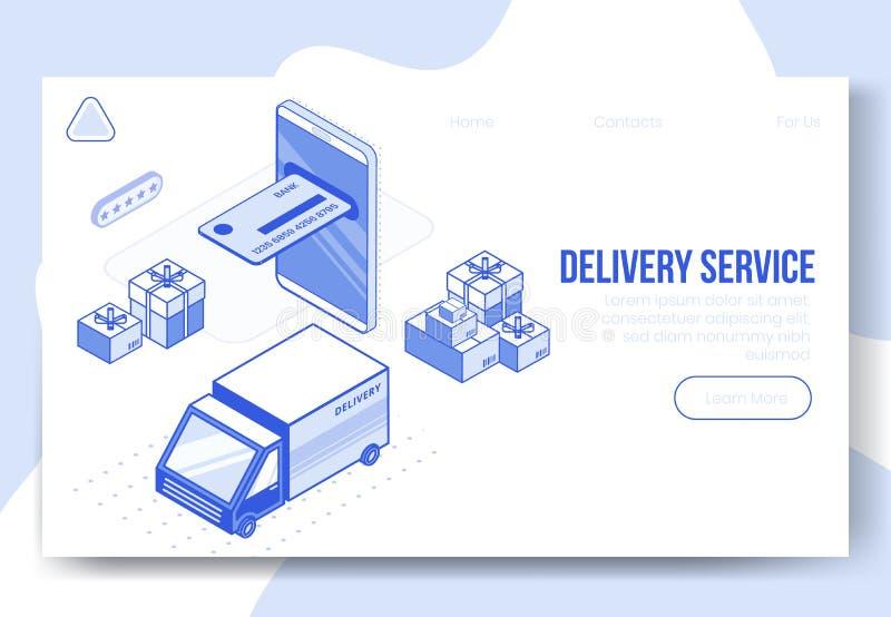 De digitale isometrische reeks van het ontwerpconcept app van de leveringsdienst 3d pictogrammen Isometrische bedrijfsfinanci vector illustratie