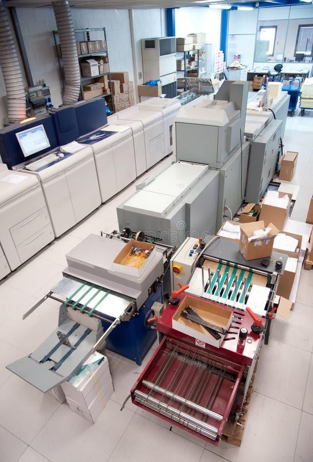 De digitale machine van de persdruk stock afbeelding