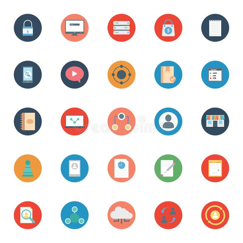 De digitale Marketing isoleerde Vector Geplaatste Pictogrammen kan gemakkelijk worden gewijzigd of uitgeven stock illustratie