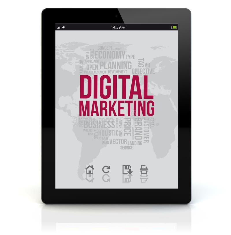 De digitale marketing van tabletpc stock illustratie