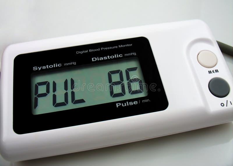De digitale monitor van bloedpreasure royalty-vrije stock foto